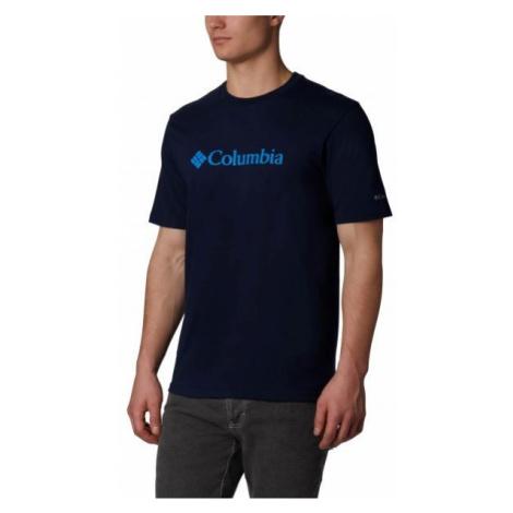 Columbia CSC BASIC LOGO SHORT SLEEVE tmavě modrá - Pánské triko