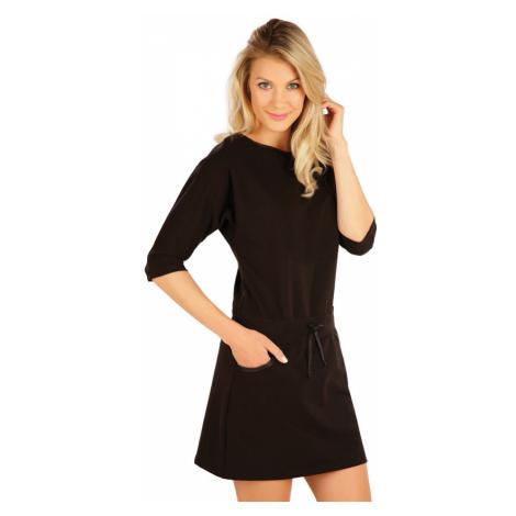 LITEX Šaty dámské s 3/4 rukávem 7A349901 černá