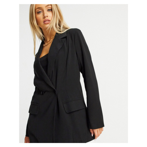 Missguided oversized blazer in black