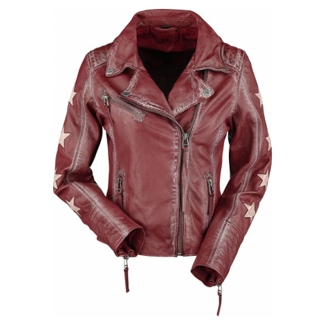 Gipsy Cady Latrev Dámská kožená bunda červená