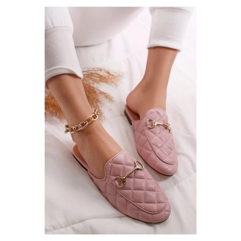 Světle růžové mule pantofle Ariana Sergio Todzi