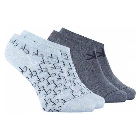 CALVIN KLEIN Blue 2-Pack ponožky