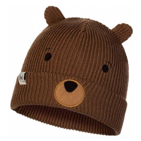 Čepice Knitted a Polar Hat Buff Child Funn - hnědá