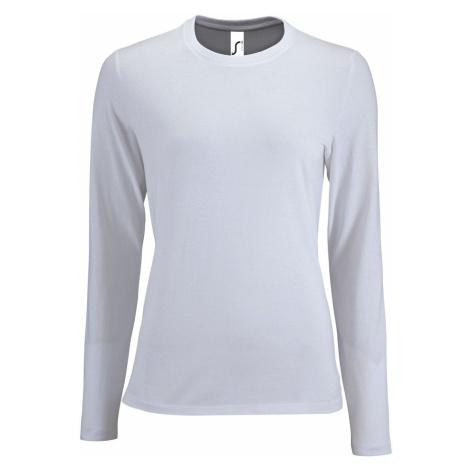SOĽS Dámské triko dlouhý rukáv IMPERIAL LSL WOMEN 02075102 Bílá SOL'S