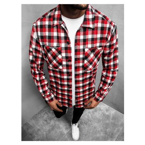 Flanelová košile v červené barvě MACH/G503