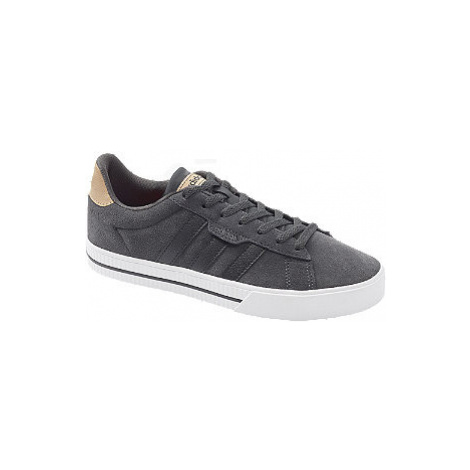 Tmavě šedé kožené tenisky Adidas Daily 3.0