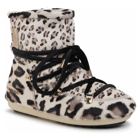 Sněhule MOON BOOT - Dk Side Low Animal 24300600 Giraffe Print
