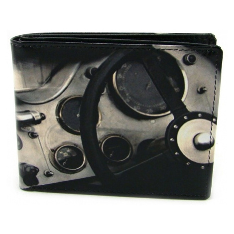 Kožená retro malá peněženka Golunski