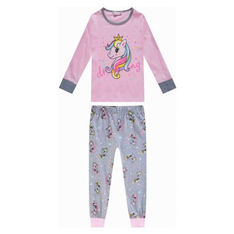 Dívčí pyžamo - KUGO MP1297, růžová světlejší