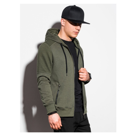 Ombre Clothing Men's zip-up sweatshirt B1074