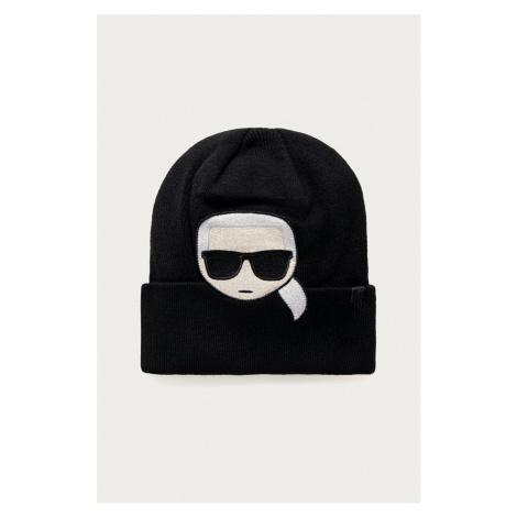 Černá čepice - KARL LAGERFELD | ikonik