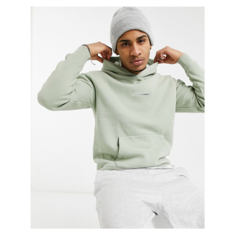 Abercrombie & Fitch central tonal logo hoodie in green