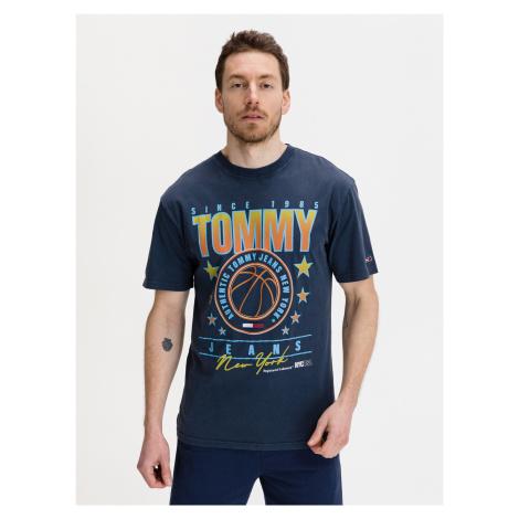 Basketball Graphic Triko Tommy Jeans Modrá Tommy Hilfiger