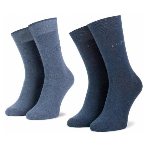 Sada 2 párů pánských vysokých ponožek BUGATTI - 6762 434
