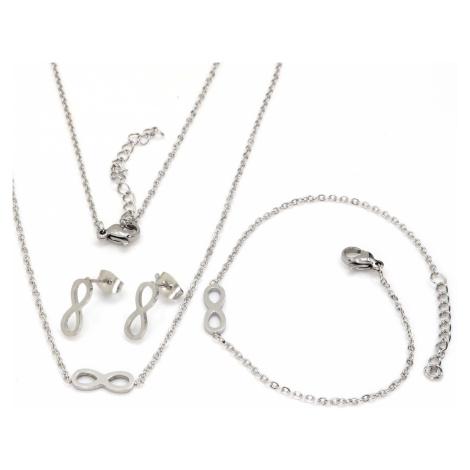 Linda's Jewelry Sada šperků Nekonečno chirurgická ocel IS028