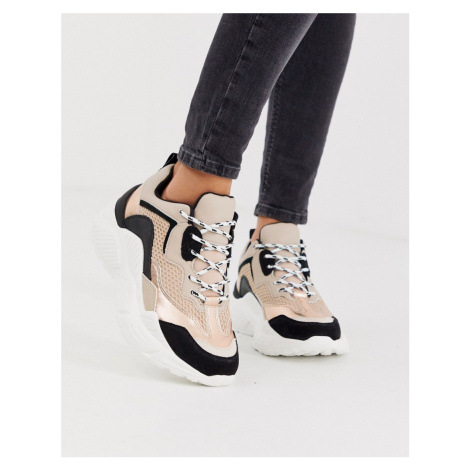 Steve Madden Antonia chunky trainers in rose mix-Pink