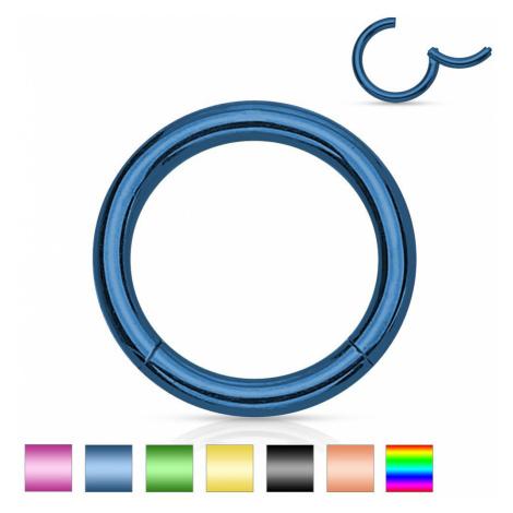 Ocelový piercing do nosu a ucha, jednoduchý lesklý kroužek, 1,6 mm - Tloušťka x průměr: 1,6 mm X Šperky eshop