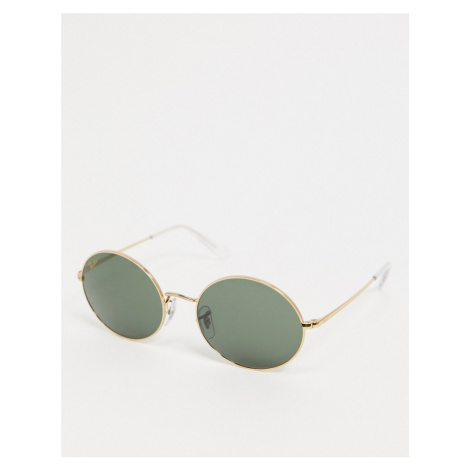 Ray-ban oval sunglasses in gold ORB1970