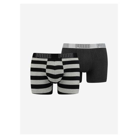 Boxerky Puma Yd Bold Stripe Boxer 2 Pack Barevná