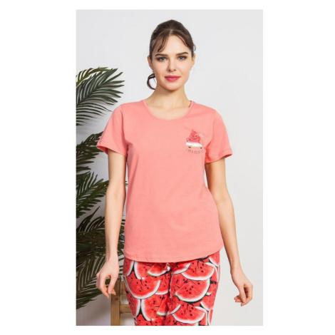 Dámské pyžamo kapri Meloun, XL, lososová Vienetta Secret