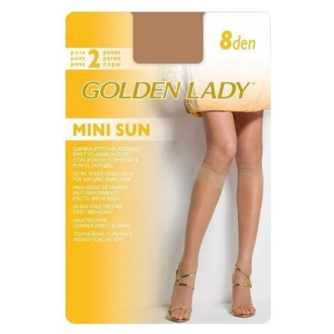 Podkolenky Mini Sun 8 den 2P - Golden Lady uni Gemini