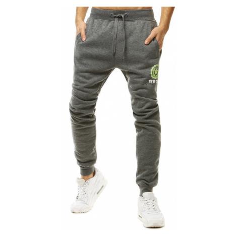 Bavlněné kalhoty na běhání jogger tepláky s potiskem DStreet