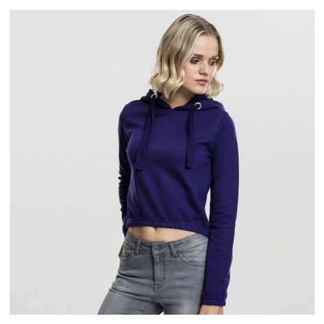 Dámská mikina Urban Classics Ladies Interlock Short Hoody regal purple