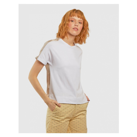 Tričko La Martina Woman Jersey/Voile T-Shirt - Bílá