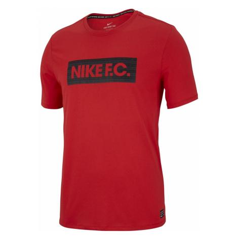 Tričko Nike F.C. Dry Tee Seasonal Block Červená / Černá