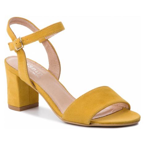 Sandály EKSBUT - 38-5039-M40-1G Žlutá