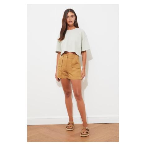 Trendyol Mink Button Detailed Shorts & Bermuda