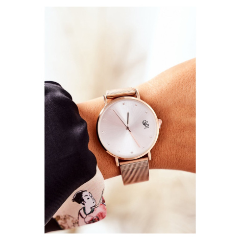 Watch With Big Dial GG Luxe Rose Gold Kesi