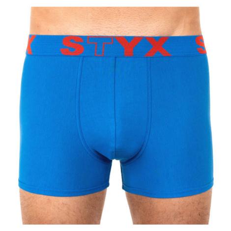 Pánské boxerky Styx sportovní guma modré (G967)