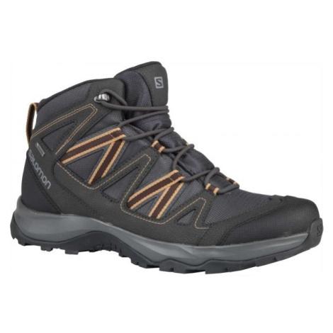 Salomon LEGHTON MID GTX hnědá - Pánská hikingová obuv