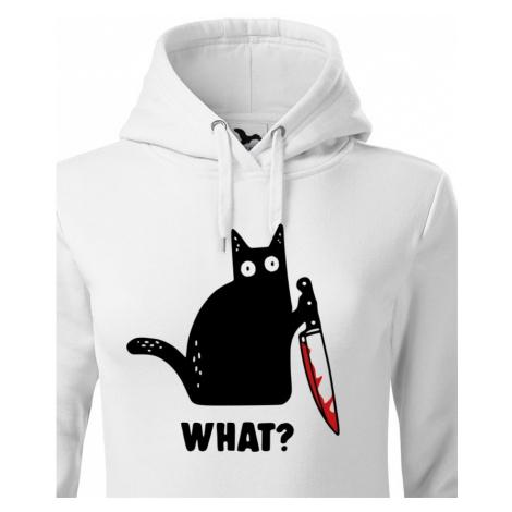 Dámská mikina s kočkou What - ideální triko pro milovníky koček BezvaTriko