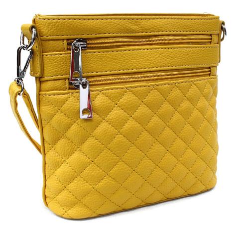 Žlutá malá crossbody dámská kabelka Cordelia Mahel