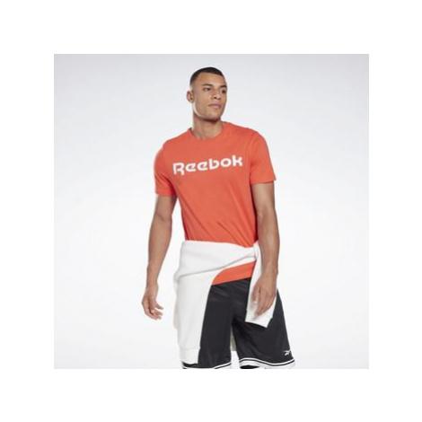 Reebok Sport Graphic Series Linear Logo Tee Červená