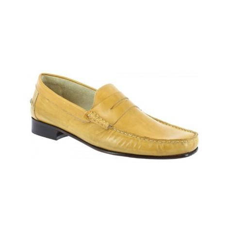 Leonardo Shoes 2384 VITELLO GIALLO Žlutá