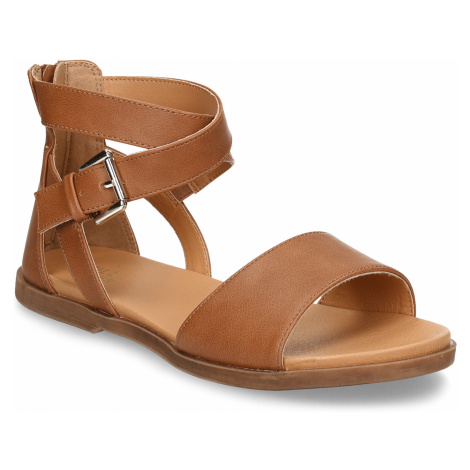 Hnědé dětské kožené sandály Bullboxer