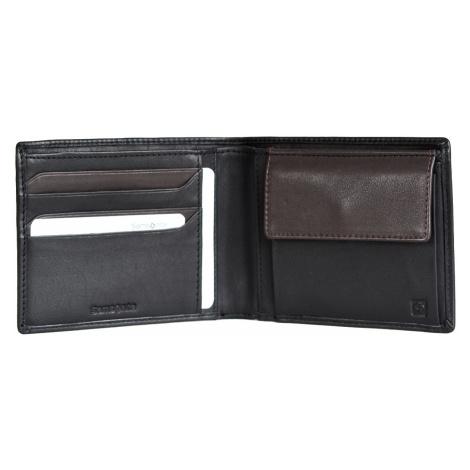 Samsonite pánská peněženka kožená NYX 3 jednoduchá černo-hnědá, 12 x 1 x 10 (68N09015)