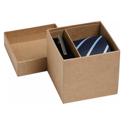 Jack&Jones Dárková sada JACCONNOR TIE BOX Navy Blazer Stripes