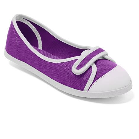 Blancheporte Plátěné baleríny fialová/bílá
