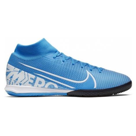 Nike MERCURIAL SUPERFLY 7 ACADEMY IC modrá - Pánské sálovky