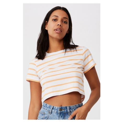 Dámské basic triko s krátkým rukávem Baby pruhované Cotton On