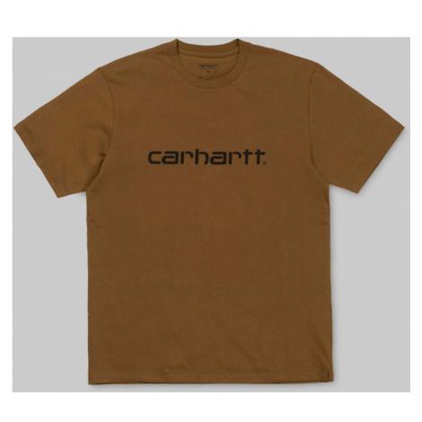 TRIKO CARHARTT Script S/S - hnědá Carhartt WIP