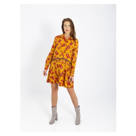 Smash ISIDORA Dámské šaty hořčicově žluté