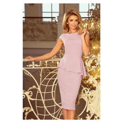 Elegantní dámské midi šaty v barvě lila s volánkem model 5943396 NUMOCO