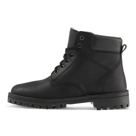 Vasky Farm Low Black - Dámské kožené kotníkové boty černé, česká výroba