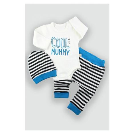 Dětské oblečení čepice kojenecké body a kalhoty modrá