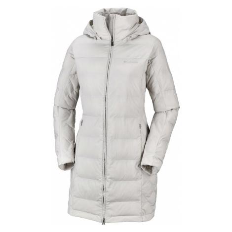 Kabát Columbia Cold Fighter™ Mid Jacket W - světle šedá/bílá